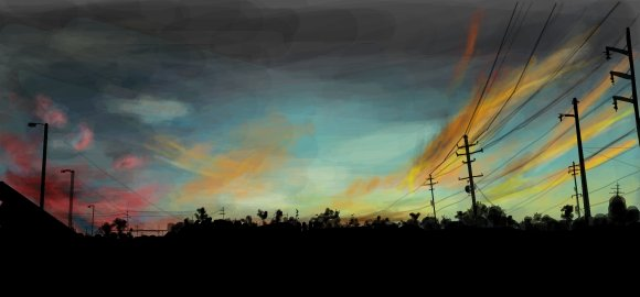 sunset digital graffiti by chris hamner