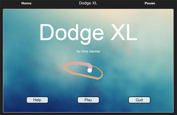 Dodge XL - A game by Chris Hamner